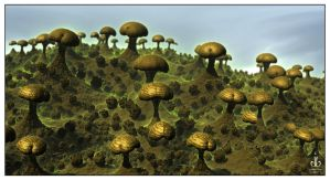 The Mushroom Patch by bluefish3d