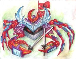 Samurai Crab color study by rawjawbone