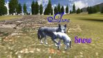 WolfQuest-Aura and Snow by Featherwolf25