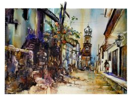 Earlier Days 18_Puerto Vallarta Street Scene by richardcgreen