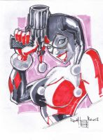 Harley Quinn sketch by qualano
