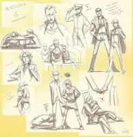 persona 4 - doodle dump by chirart
