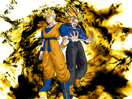 Dbz Future Gohan and Trunks by ssdeath3