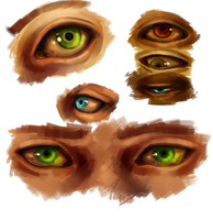 How I paint eyes (video link in description) by Missleepify