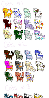 2 Point Mega Adoptables (Cats 2-  #9+#10+#11 Left) by Windup-Ghost