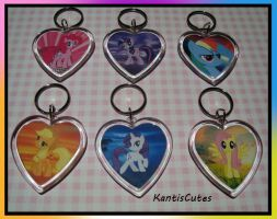 MLP: Set 01 Keychains by ObjectionSoS