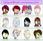 My 2014 Summary Of Art by Queen-Of-Purple