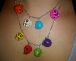 Simple Skull Necklace by Lucky101212