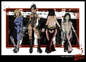 The Girls of Sin City by CitizenWolfie