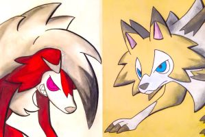 Night and Day (Lycanroc) by TruiArts