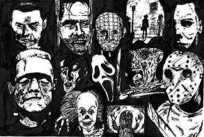 Horror icons by Valashard