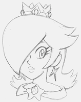 Rosalina Pencil Sketch by Th3AntiGuardian