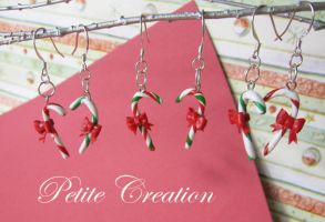 2010 candy cane earrings 1 by PetiteCreation