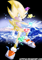 Sonic The Hedgehog by Gotetho