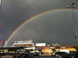 Rainbow and Shopping mall by JulieThatsMe
