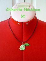 Chikorita Necklace by CynicalSniper