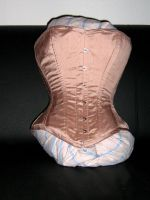 Pale Pink Silk Corset by Stahlrose