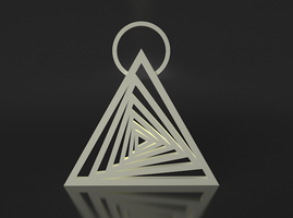 Spiraling Triangle Pendant by ShapeShift3D