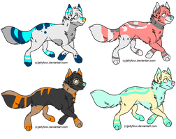 Wolf Adopts (2/4 Open) by NotSanity