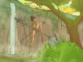 Jungle Girl practice by Vincenttmw