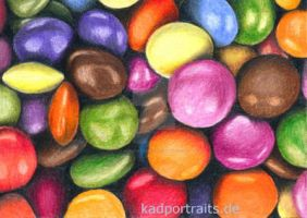 ACEO #24 - Sweets - colored pencil drawing by kad-portraits