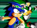I'm faster than you Sonic! by Dogwhitesector