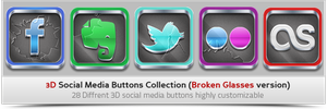3D Social Media Buttons Collection by khaledzz9