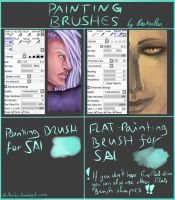 PAINTING BRUSHES FOR PAINT TOOL SAI by RaikaiRan
