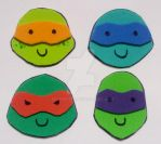 TMNT Foam Magnets by fuzzykittn