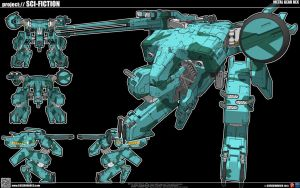 Metal Gear Rex Mk. II - Final by cosedimarco