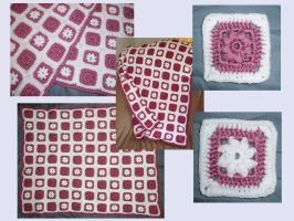 Flower Square Baby Blanket by KasumiAngel