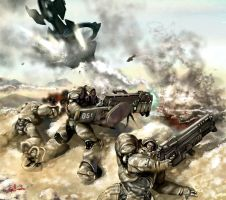 Marine squad in action by gailvamp