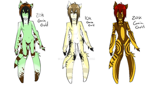 Gold Adopts: Ice Cream Furs by Lokymew