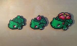 Pokedex #1 Bulbasaur, #2 Ivysaur, #3 Venusaur by RavenTezea