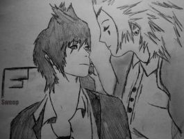 Axel and Roxas from 'Simposio' by Sweepzebrine