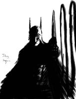 Batman paint and brush 2nd version by DougSQ