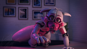 Defeated Funtime Foxy 4K render by Qutiix
