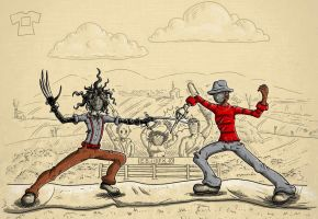 Finger Fence-Off: Ed Vs Fred by Don-Pitayin