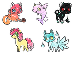 Mini Creatures Adoptable - Pony is OPEN by Adopts-Only