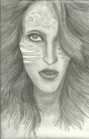 Iman in Pencil by silvermoon822