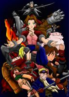 Final Fantasy VII colab by IqM