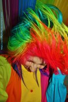 Rainbow hair head bang.. bang kapow! by ScruffyFluffy