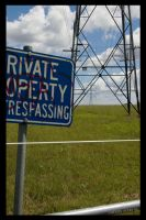 No Trespassing by ACDCpincushion