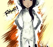Myself as a snowleopard~ ! by x3YuukiCx