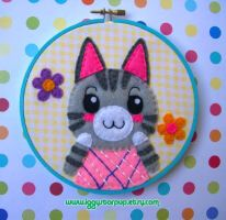 Animal Crossing Lolly Embroidery by iggystarpup