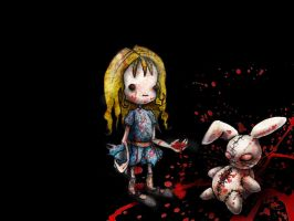 Alice and the Bloody Rabitt by the-wonderland