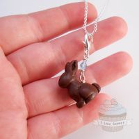 Delicate Easter Bunny Necklace -Scented by ilikeshiniesfakery