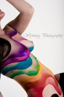 Rainbow Rose by extreme-body-art