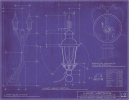 Steampunk Lamp Blueprints by rsandberg