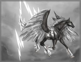 Spotted Pegasus's Mage by howlinghorse
